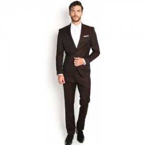Bsquare Single Breasted Solid Men's Suit