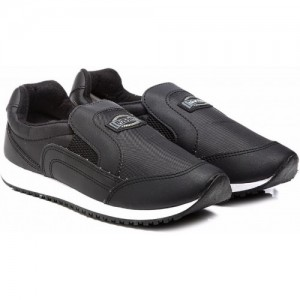 Unistar 036-R Black Polyester Slip On Running Shoes