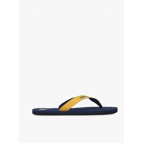 Adidas Men Mustard Yellow & Navy Puka Flip-Flops