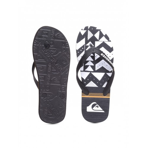 Quiksilver Men Black & White Printed Flip-Flops