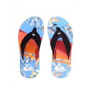 Quiksilver Men Black & Blue Printed Flip-Flops