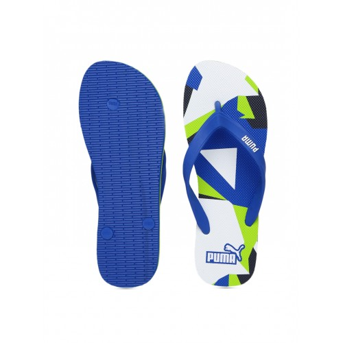 Puma Blue & Green Printed Sam DP Flip-Flops