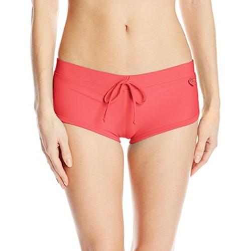 Body Glove Women's Smoothies Sidekick Sporty Swim Short Bikini Bottom