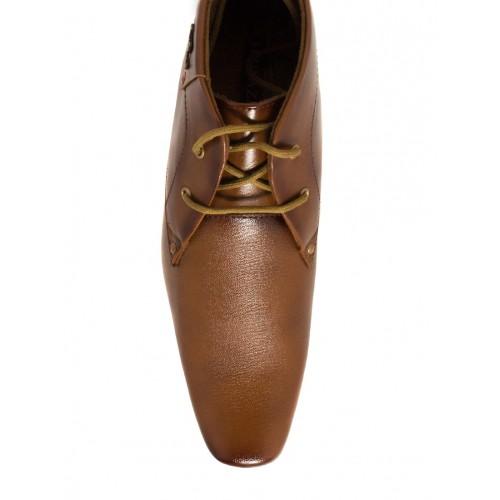 Shoe Island solid brown leatherette derbies