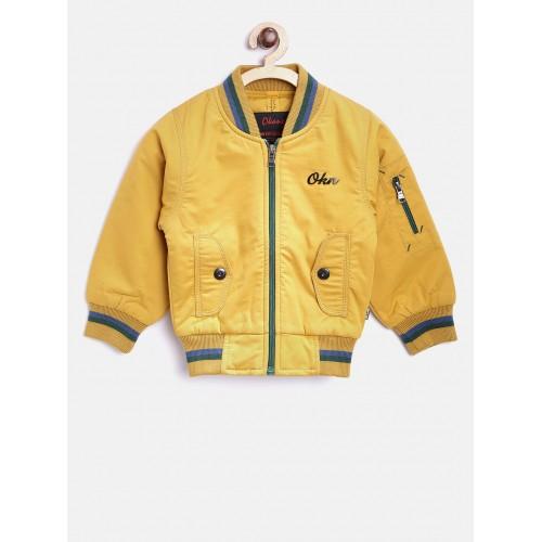 62c5e41c7 Buy Okane Boys Mustard Yellow Solid Bomber Jacket online ...