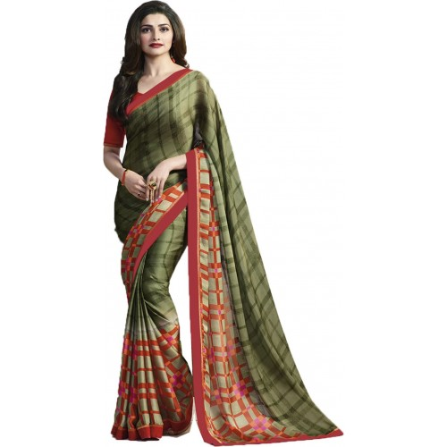 733f8cdc08 ... IndianEfashion Self Design, Printed Bollywood Georgette Saree ...