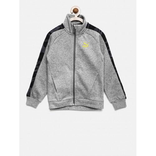 32b1d0748af5 Buy Puma Boys Grey Solid Justice League Jacket online