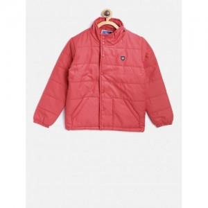 cf64737f1 Buy Okane Boys Mustard Yellow Solid Jacket with Detachable Hood ...