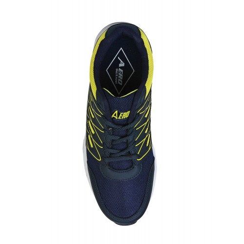 Aero Blue Synthetic Lace up Sports Shoes