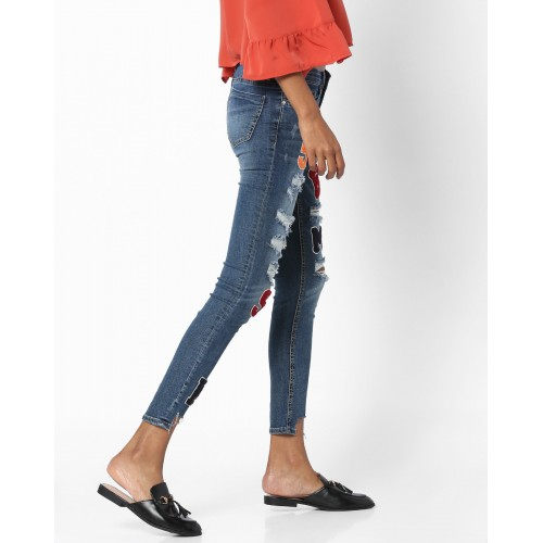 TALLY WEiJL Low-Rise Distressed Jeans