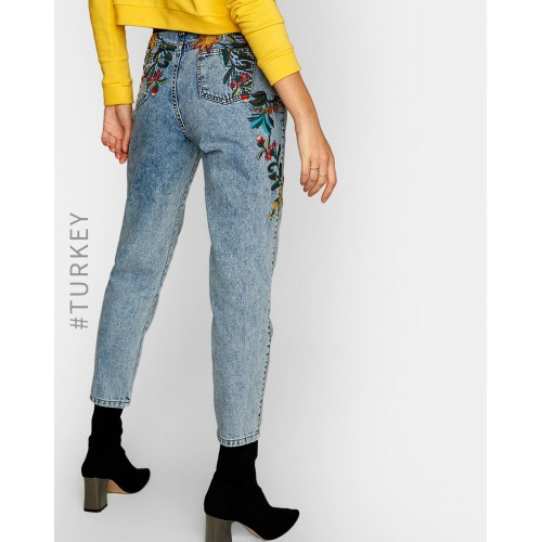 TRENDYOL Acid-Wash Relaxed Fit Jeans