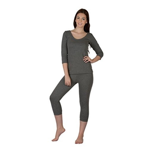 Selfcare Cotton Blend Thermal Top and Pyjama Set