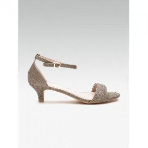 DOROTHY PERKINS Women Gold-Toned Shimmer Heels