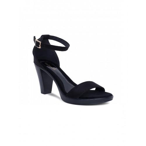 Buy Catwalk Women Black Solid Heels