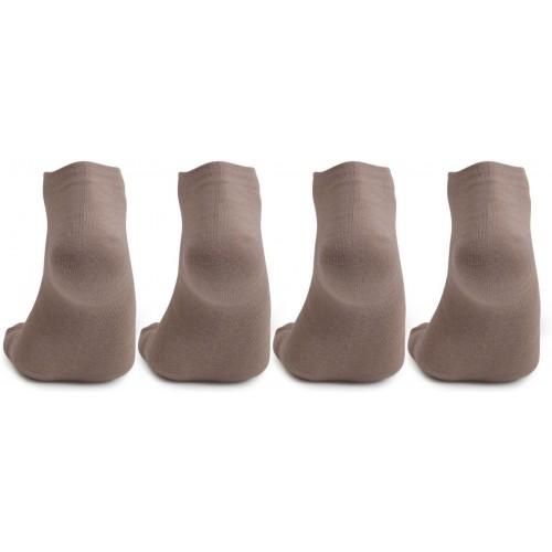 Bonjour Brown Cotton Solid Crew Length Socks