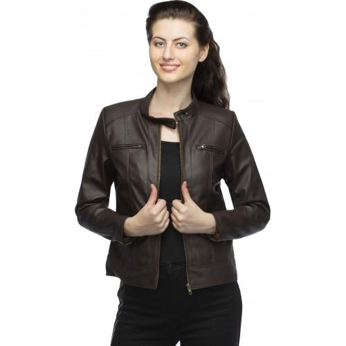 Lambency Full Sleeve Solid Women's Biker Jacket