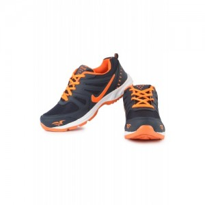 World WEAR Footwear Men Blue,Orange Lace-up Running Shoes