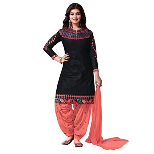 d90ec5b82 ... Crazy Women s Embroidered Pure Cotton Patiala Salwar Suits for women  semi stitched ...