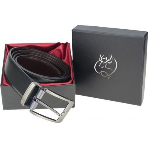 Genious Men Casual, Formal, Party Black, Brown Genuine Leather Reversible Belt