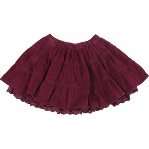 Mothercare Solid Girls Gathered Purple Skirt