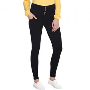 Broadstar Women Denim Black Jeans