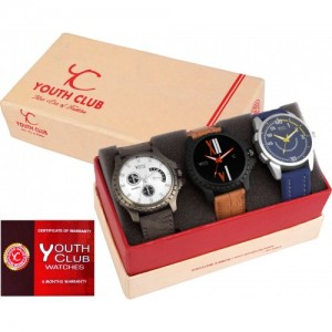 Youth Club New Tag Combo of Three Watch  - For Boys