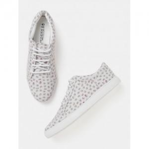 Kook N Keech Women Grey Printed Sneakers
