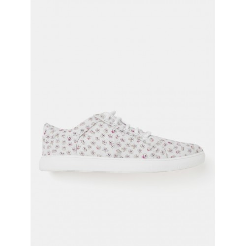 Kook N Keech Women Grey Printed Sneakers