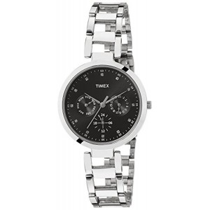 Timex Silver Women Toned Dial Watch TW000X204