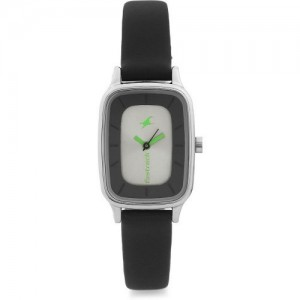 Fastrack Black Leather Analog Watch  For Women-6121SL01