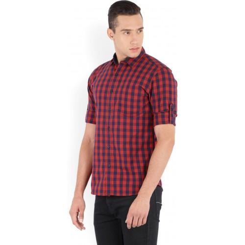 8d84bcb4806d Buy Highlander Men's Checkered Casual Red, Blue Shirt online ...