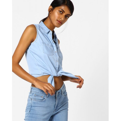 KRAUS Crop Shirt with Tie-Up