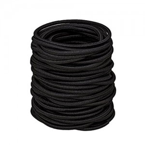 Chronex™ 25 pcs Black Ponytail holders Hair Elastic Rubber bands ties  Accessories for Girls  c8b80b87301