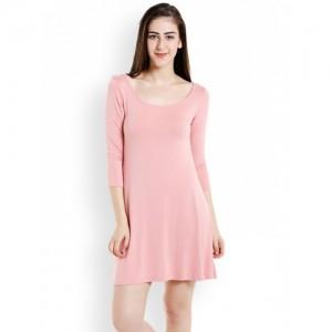 20Dresses Women Pink Solid A-Line Dress