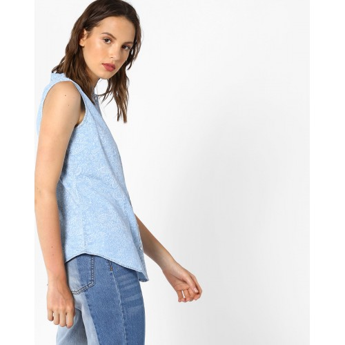 KRAUS Printed Sleeveless Shirt