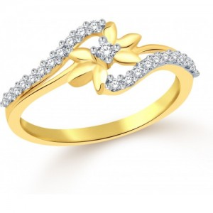 Classic Star Yellow Gold Plated Alloy Cubic Zirconia Ring
