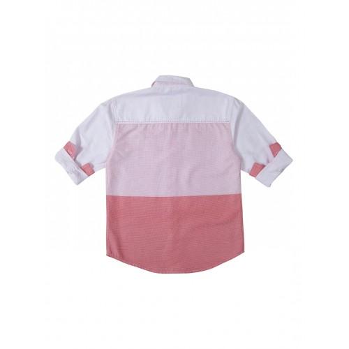 Gini & Jony Kids Red Printed Shirt