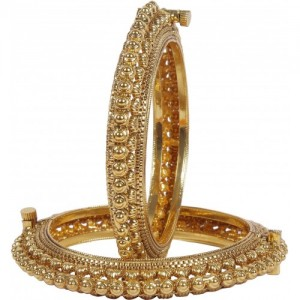 Muchmore Alloy Crystal 18K Yellow Gold Bangle Set