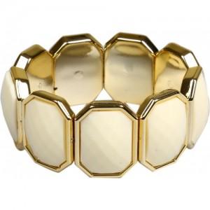 Kashvi Brass Agate 18K Yellow Gold Bracelet