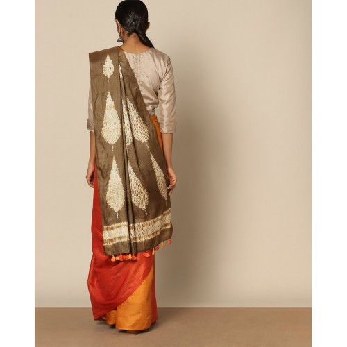 Rudrakaashe-MSU Pure Silk Tussar Desi Shibori Saree