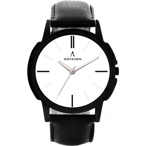 Adixion 9502NLC2 New Black Strap watch with Genuine Leather Watch  - For Men