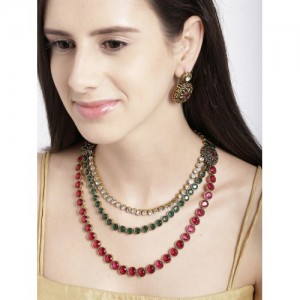 Zaveri Pearls Multicoloured Embellished Jewellery Set