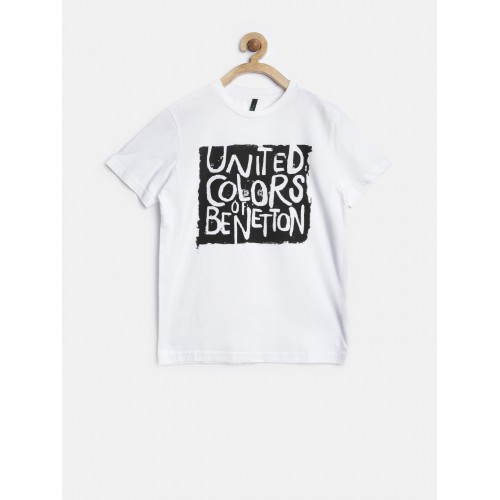 Shirt United Buy Online Benetton Of White T Printed Colors Boys hdostrBQCx