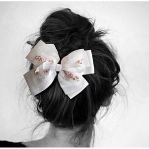 TiedRibbons® Hair bows for girls party wear | hair bow clips for women | hair bows for women | hair clip for girls | hair clip designer (White)