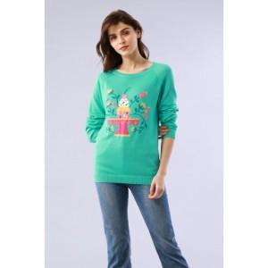 Chumbak Cupcake Printed Raglan Sleeve Sweater