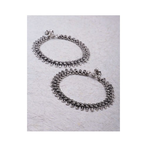 beads p platinum popular silver plated online women anklet anklets box