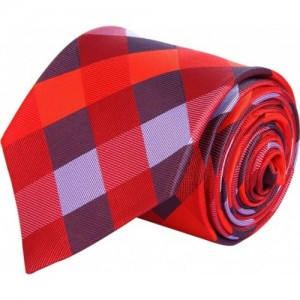 Tossido Red polyester Checkered Tie