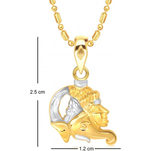 VK Jewels Ganesh With Lord Shankar Yellow Gold Alloy Pendant