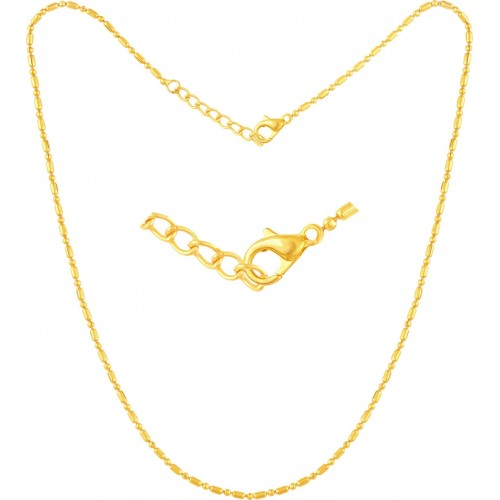 VK Jewels Allah Yellow Gold Cubic Zirconia Alloy Pendant