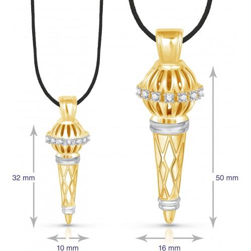VK Jewels Bajrangi Bhaijaan Combo Yellow Gold Cubic Zirconia Alloy Pendant Set